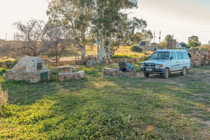 Campingplatz an Matjiesfontein-Bauernhof in der Nordkap-Provinz lizenzfreie stockbilder