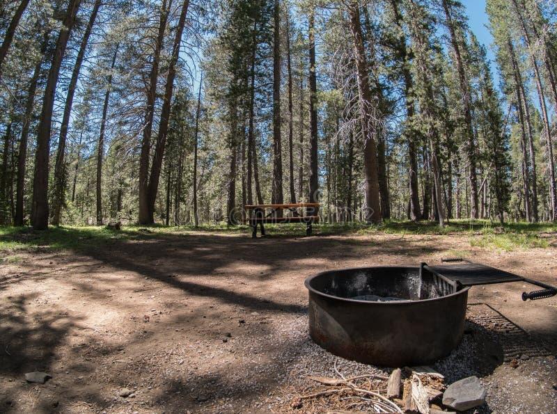 Campingplatz, Webber See, Kalifornien stockfotos