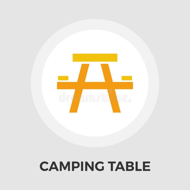 Download Campingtisch-Vektor-flache Ikone Vektor Abbildung - Illustration von frühling, draußen: 90231035