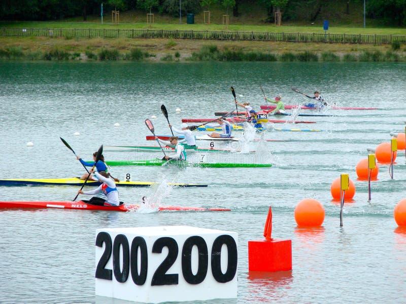 Campionati 2008 dell'europeo di Flatwater fotografie stock