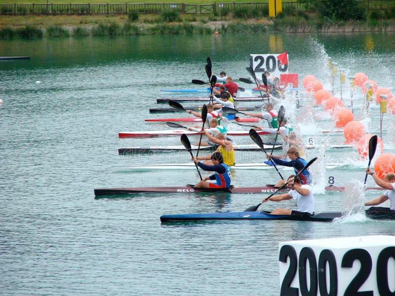 Campionati 2008 dell'europeo di Flatwater fotografia stock libera da diritti