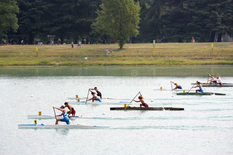 Campionati dell'italiano del kajak e della canoa fotografia stock libera da diritti