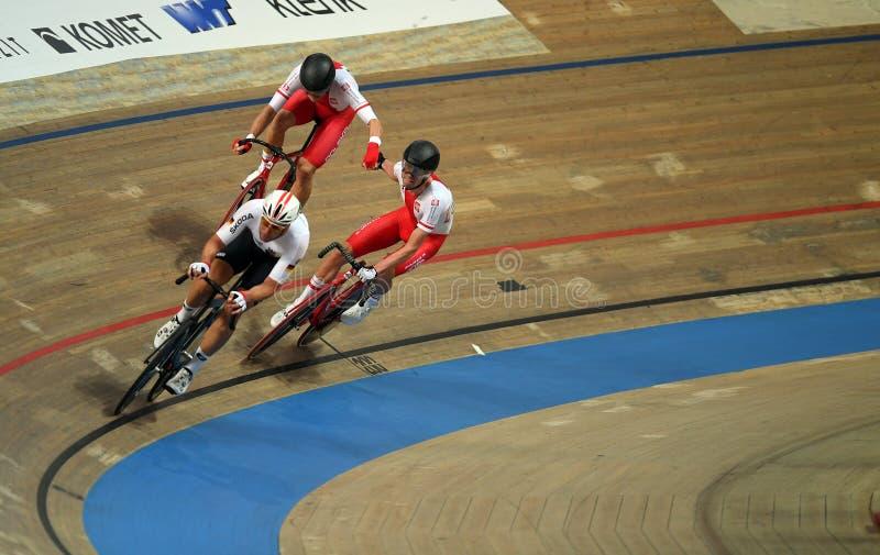 Campionati di riciclaggio del mondo della pista di UCI in Pruszkow immagine stock libera da diritti