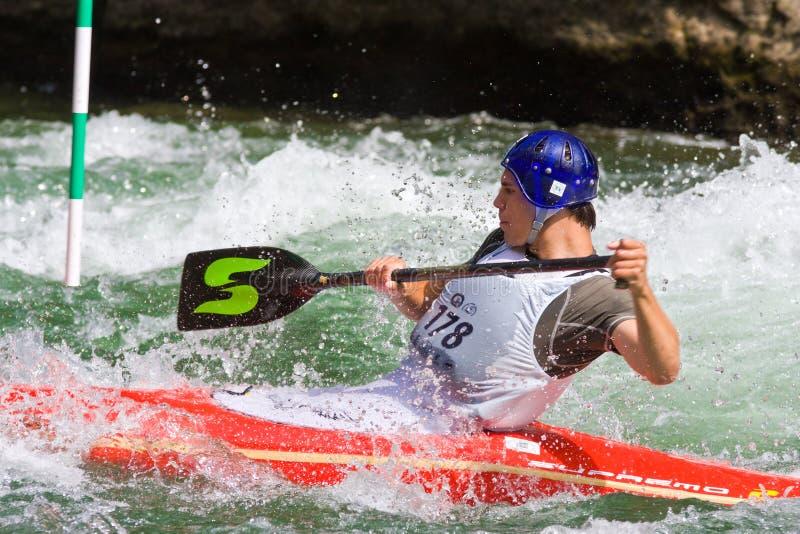 Campionati europei di slalom della canoa U23 e del junior immagine stock libera da diritti