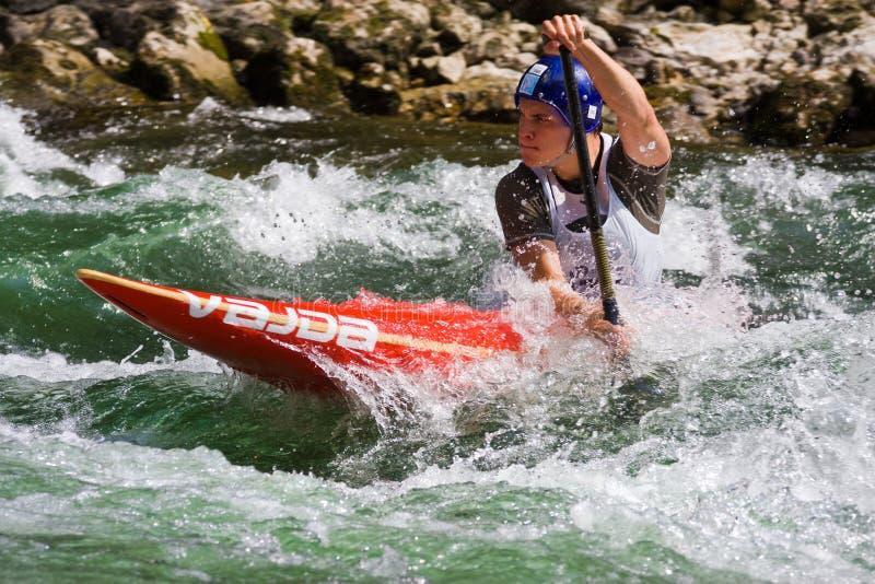 Campionati europei di slalom della canoa U23 e del junior fotografie stock libere da diritti