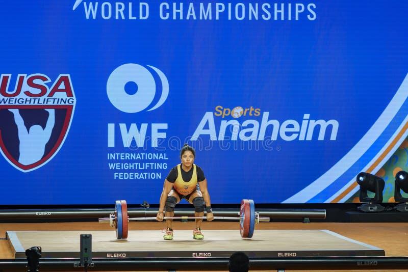 2017 campionati internazionali del mondo di federazione di sollevamento pesi fotografie stock libere da diritti