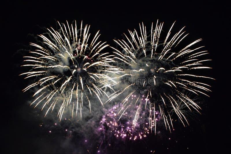 Campionato britannico dei fuochi d'artificio fotografia stock