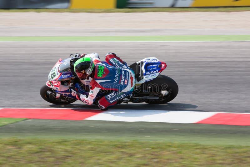 Campionato del mondo del Superbike della FIM - sessione di pratica libera 3th fotografia stock libera da diritti