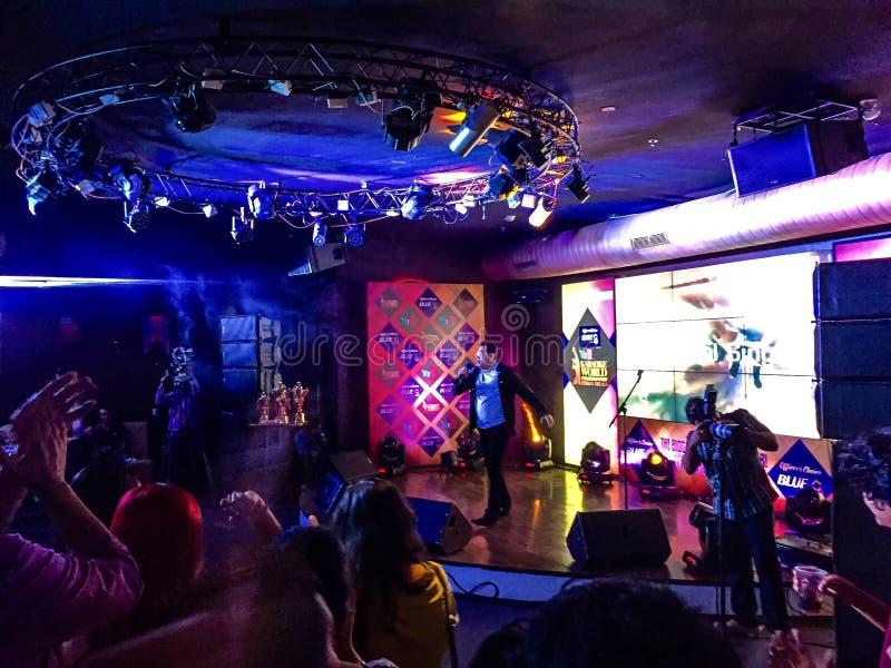 Campionato del mondo di karaoke - finali dell'India immagini stock libere da diritti