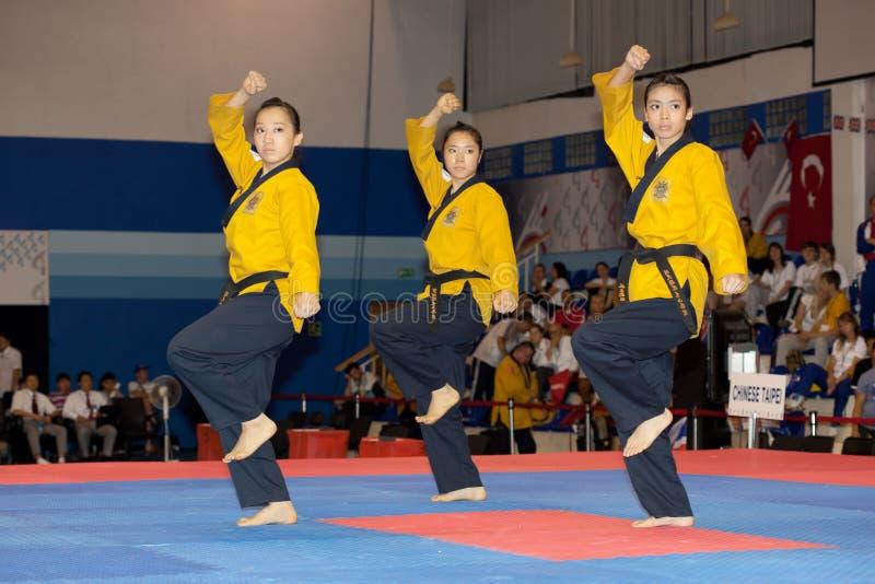 Campionato del Taekwondo Poomsae del mondo di WTF fotografia stock