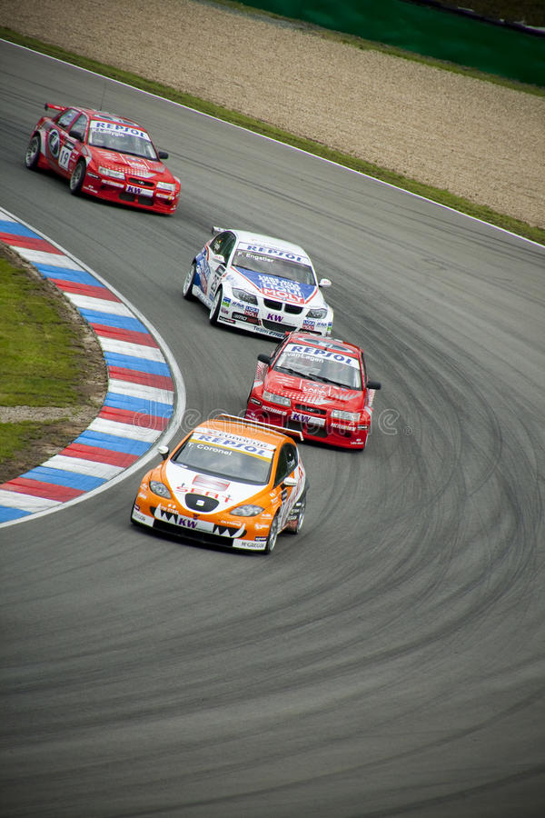 Campionato dell'automobile di visita del mondo a Brno 2009 fotografia stock