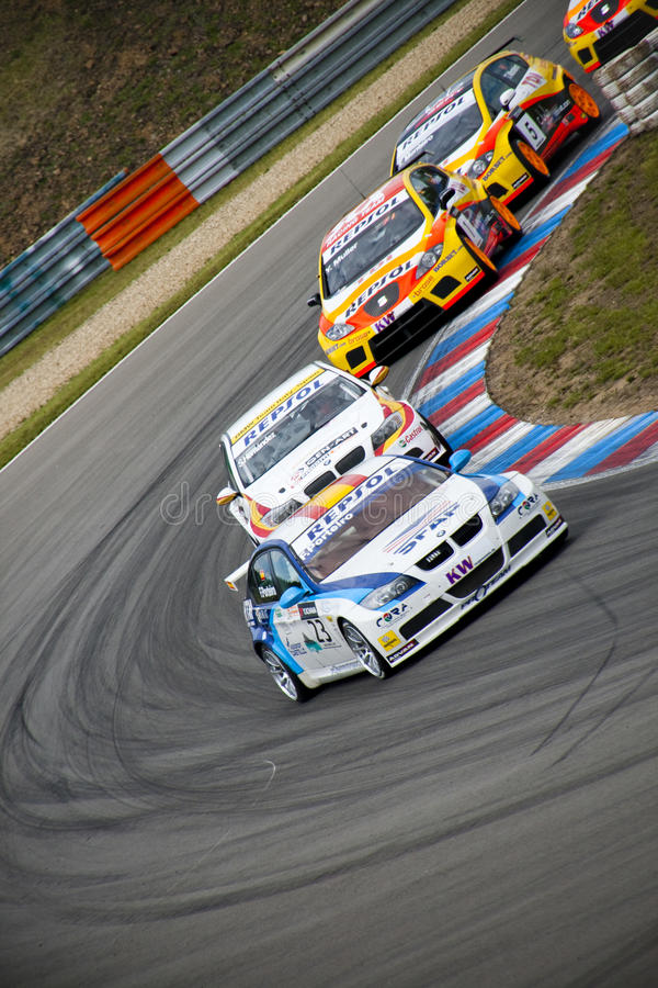 Campionato dell'automobile di visita del mondo a Brno 2009 fotografia stock libera da diritti