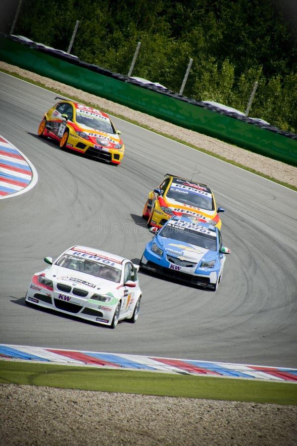 Campionato dell'automobile di visita del mondo a Brno Zanardi immagine stock