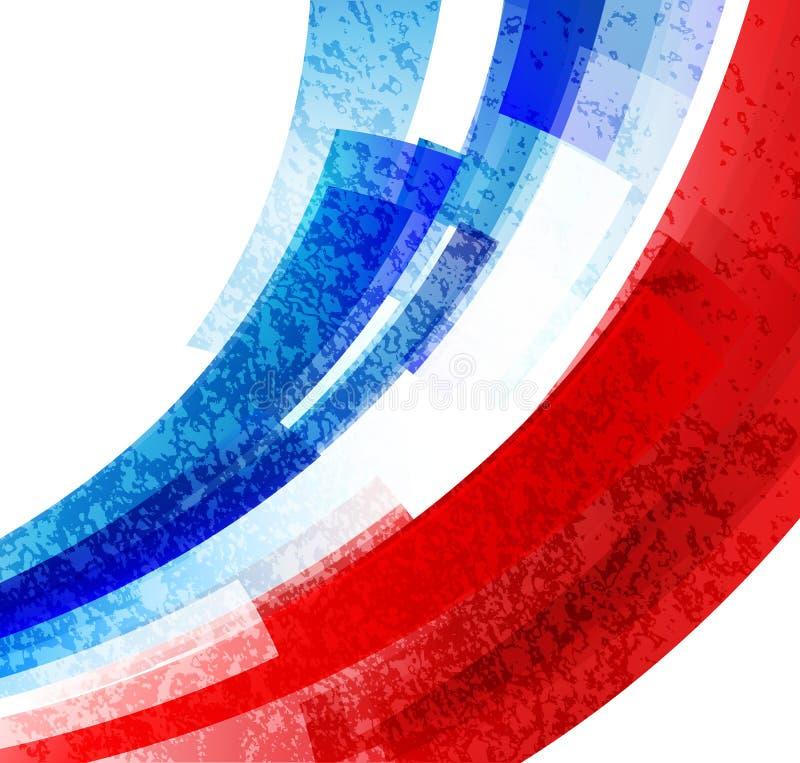 Campionato 2016 di calcio della Francia dell'euro con i colori della bandiera della Francia Vettore illustrazione di stock