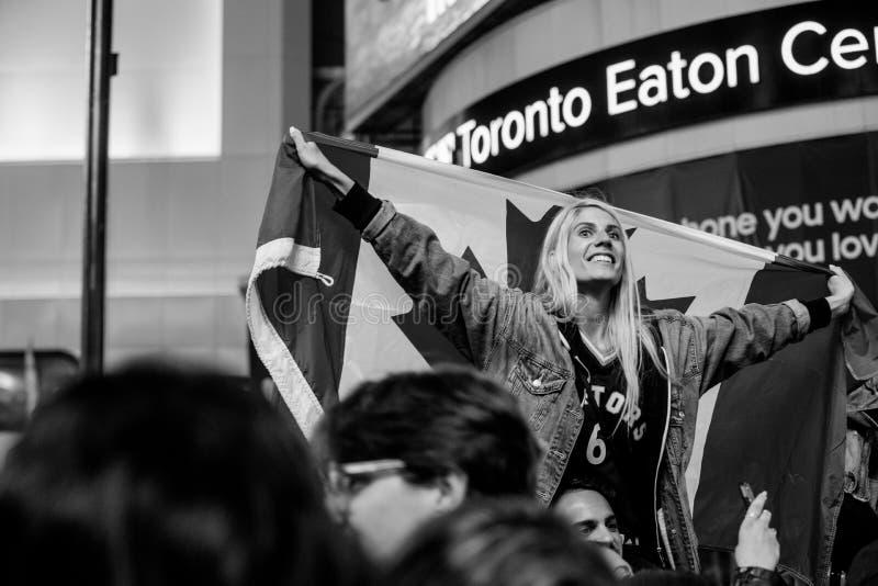 Campionato di NBA di vittoria di Toronto Raptors - Toronto, Canada - 14 giugno 2019 fotografia stock