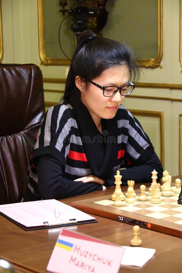 Campionato di scacchi del mondo delle donne di FIDE fotografia stock libera da diritti