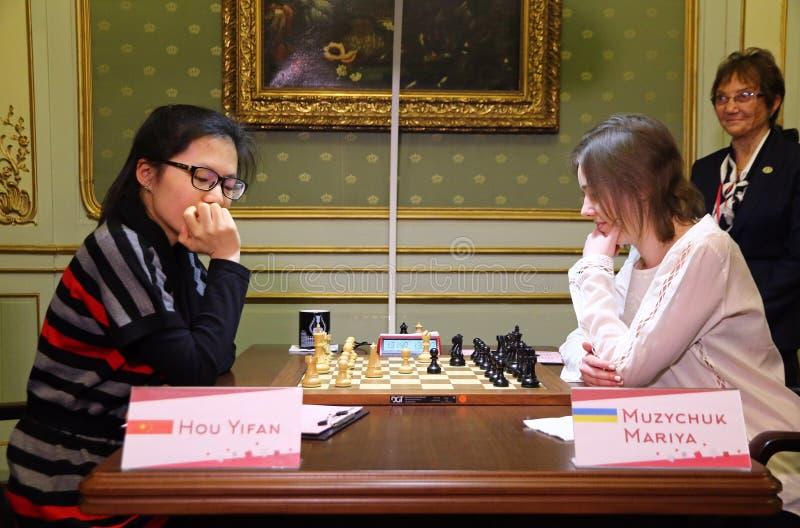 Campionato di scacchi del mondo delle donne di FIDE immagini stock