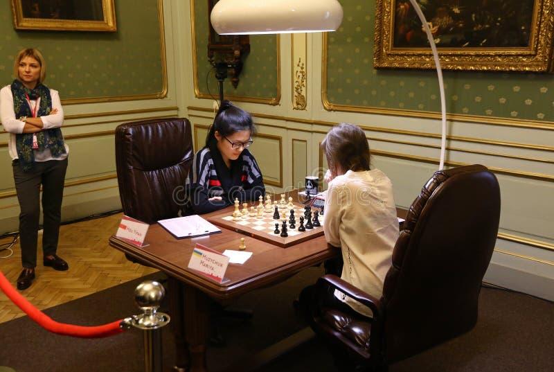 Campionato di scacchi del mondo delle donne di FIDE immagine stock libera da diritti