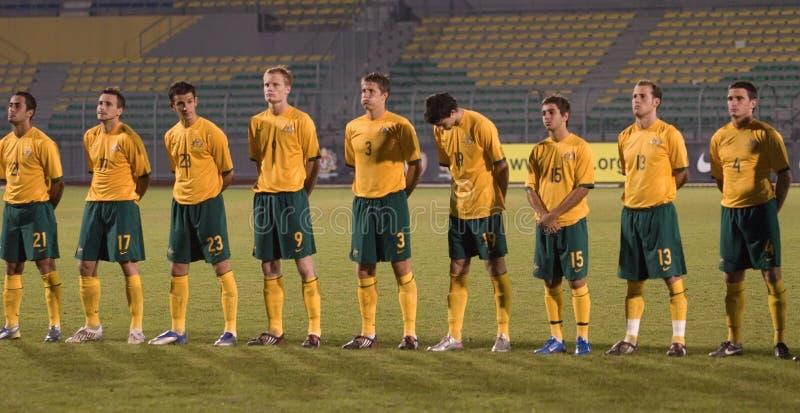 Campionato intercontinentale Mala di gioco del calcio U-23 immagine stock