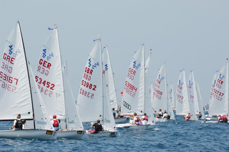 Campionato internazionale 2010 di parola dell'yacht 420 fotografia stock libera da diritti
