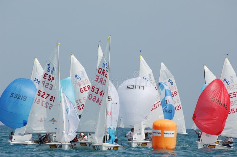 Campionato internazionale 2010 di parola dell'yacht 420 fotografia stock