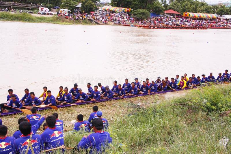 Campionato lungo della corsa di barca di /Traditional delle barche lunghe tailandesi tradizionali fotografie stock libere da diritti