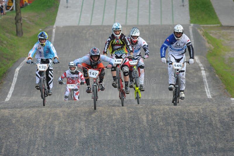 Campionato polacco di corsa di BMX fotografie stock libere da diritti