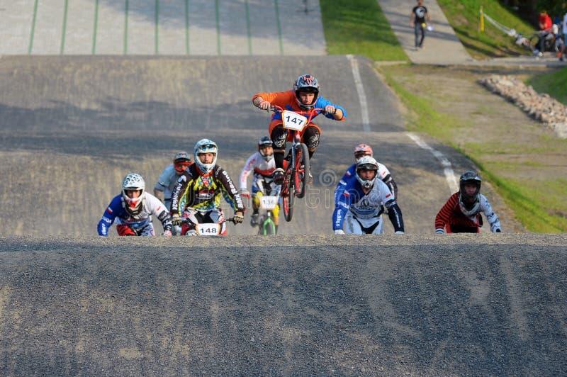 Campionato polacco di corsa di BMX immagine stock