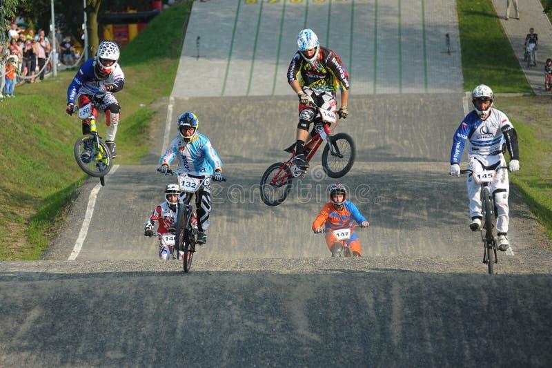 Campionato polacco di corsa di BMX immagini stock