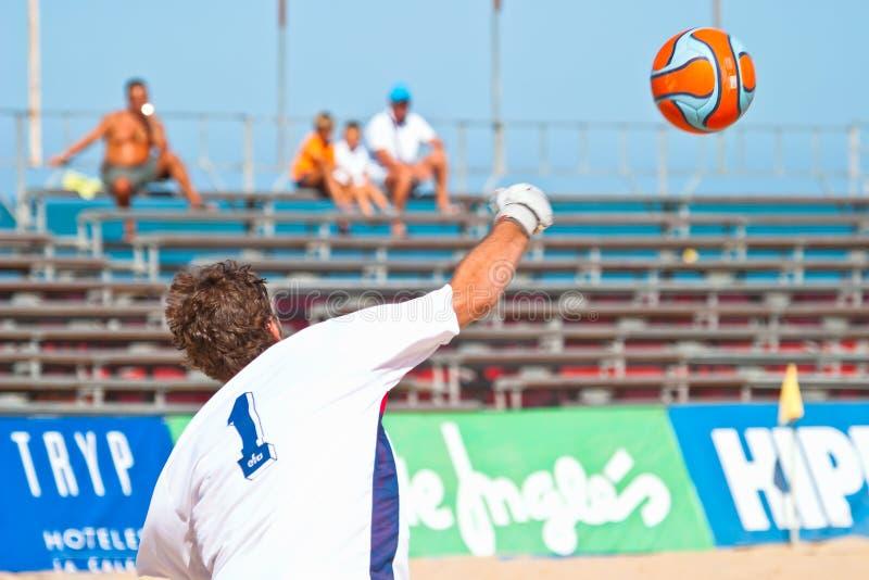 Campionato spagnolo di calcio della spiaggia, 2005 fotografia stock