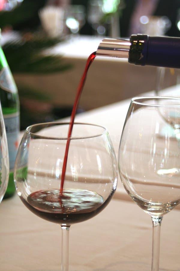 Campionatore di rosso di vino al ristorante immagini stock libere da diritti