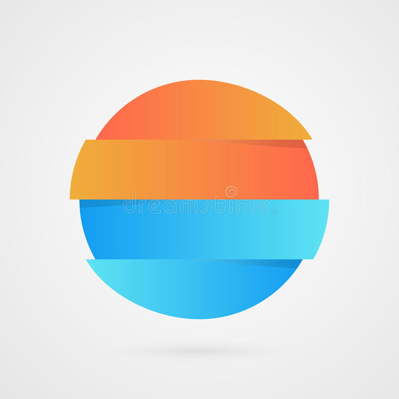 Campione arancio e blu del cerchio Infographics di vettore Icona del campione di vendita Illustrazione di logo di affari isolata illustrazione vettoriale