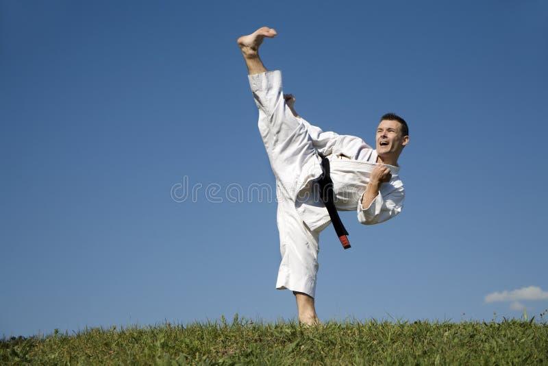 Campione del mondo di karatè - kata fotografia stock libera da diritti