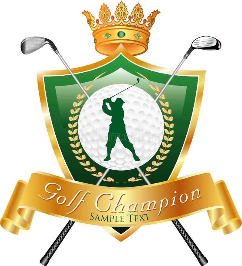 Campione di golf illustrazione di stock