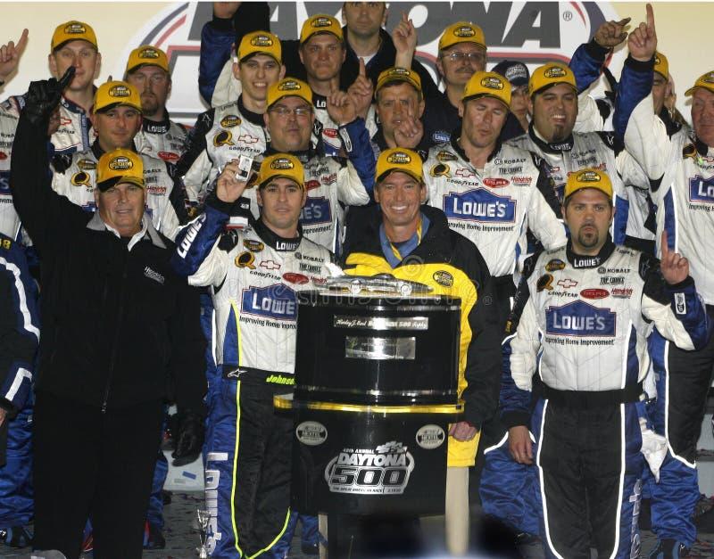 Campione Jimmie Johnson di NASCAR fotografia stock