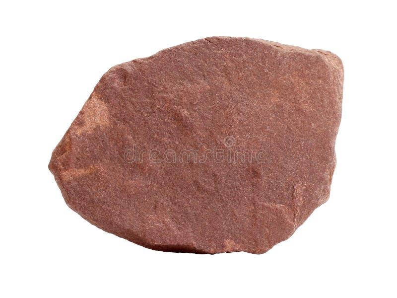 Campione naturale dell'ardesia rossa della quarzite - roccia trasformata dell'arenaria fotografia stock libera da diritti