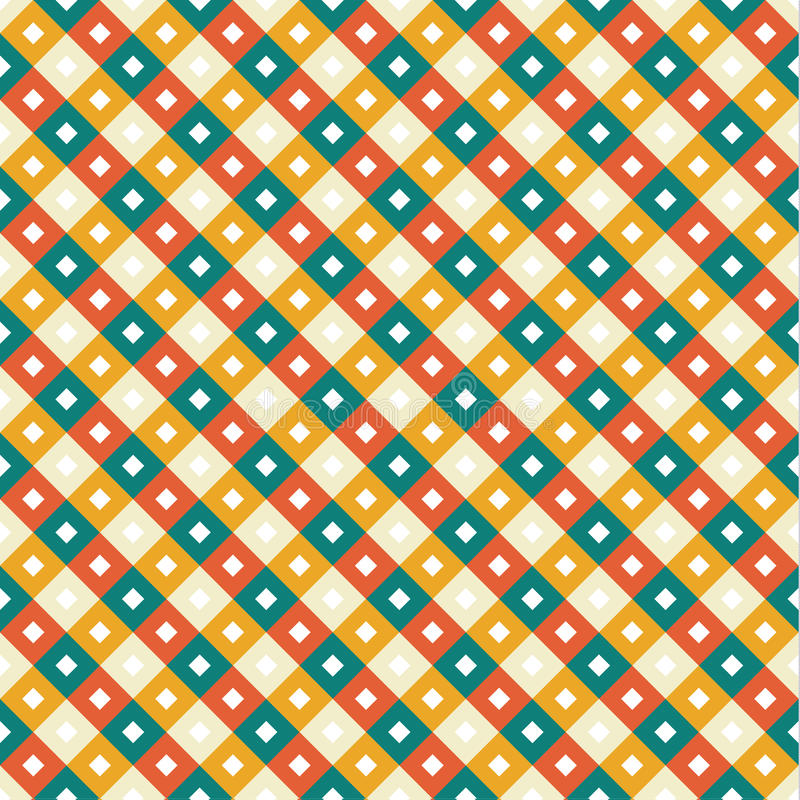 Campione senza cuciture - ornamenti del rombo o del quadrato nel modo diagonale illustrazione vettoriale
