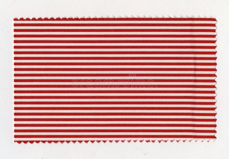 Campione a strisce rosso del tessuto fotografia stock