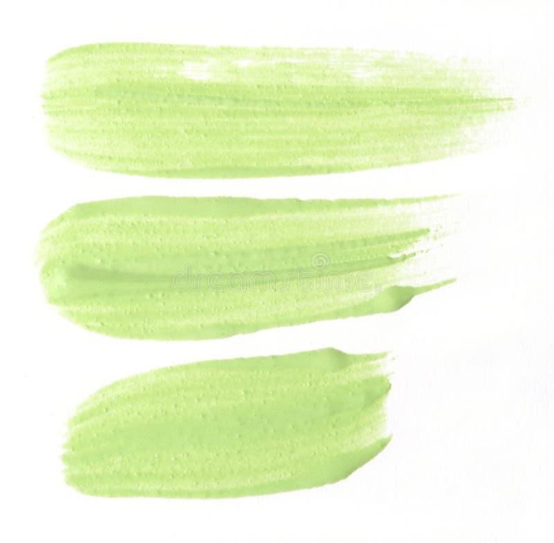 Campione verde di correttore isolato sopra bianco fotografia stock