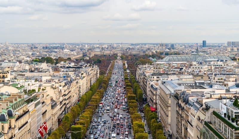 Campioni-Ãlysées del DES del viale. Parigi immagine stock libera da diritti