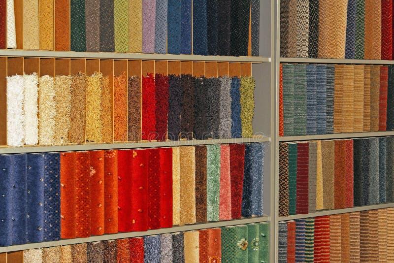 Campioni dei tappeti fotografia stock