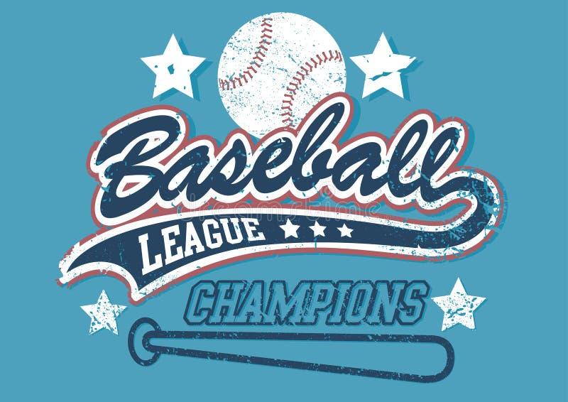 Campioni della lega di baseball illustrazione di stock