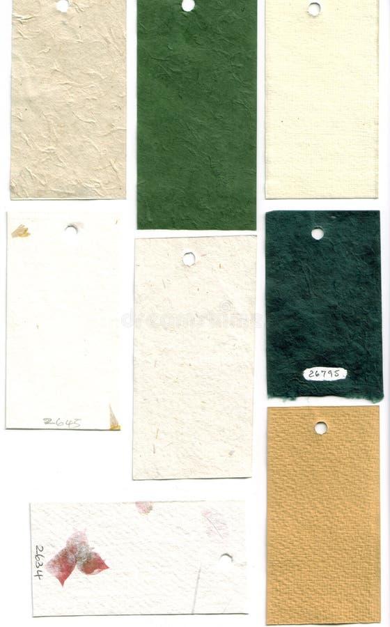 Campioni di carta del campione immagine stock