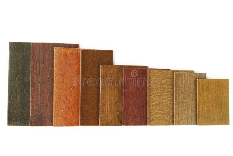 Campioni di legno di colore fotografia stock libera da diritti