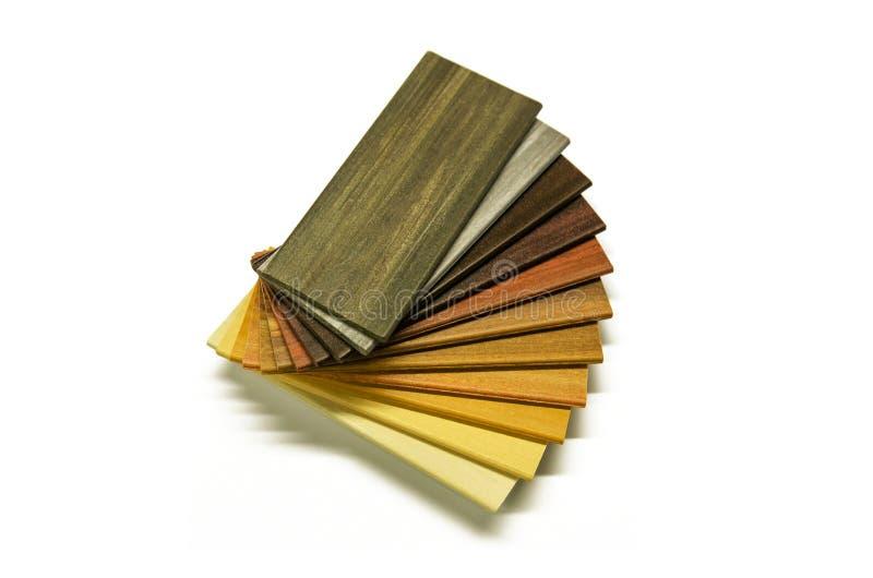 Campioni di legno di colore fotografie stock
