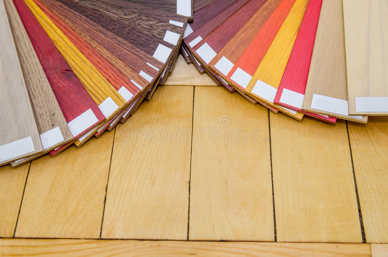 Campioni di legno di struttura e di colore immagine stock libera da diritti