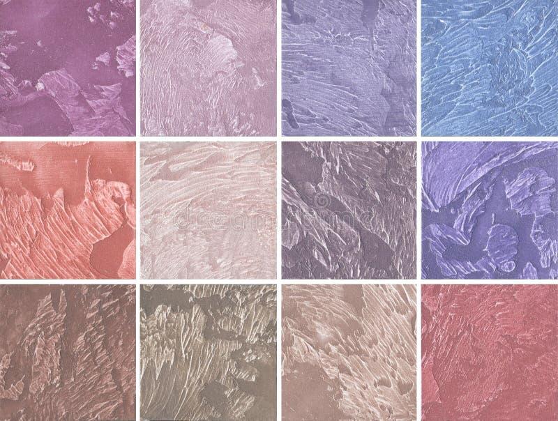 Campioni di rivestimento decorativo per le pareti nel rosa e nella porpora fotografia stock - Rivestimento decorativo pareti ...