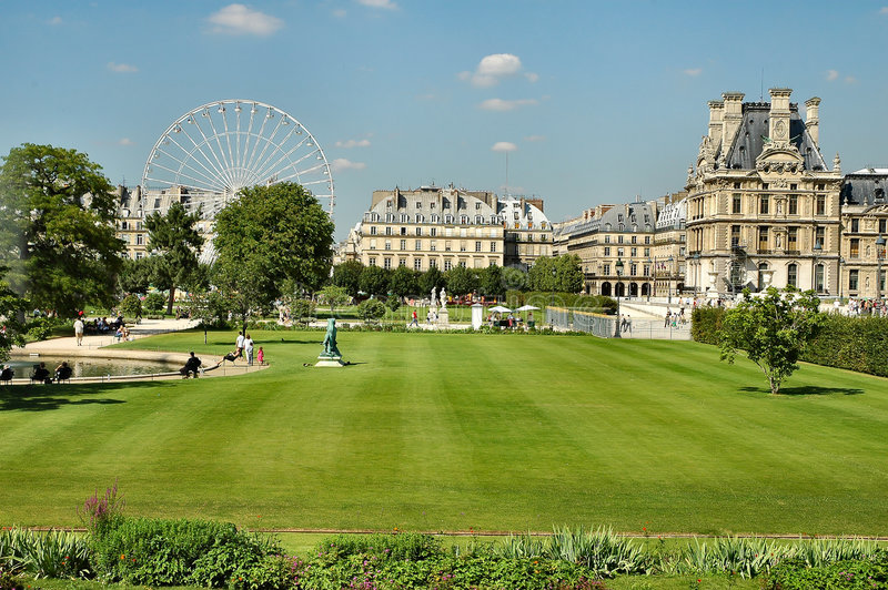 Campioni Elysee - Parigi immagini stock libere da diritti