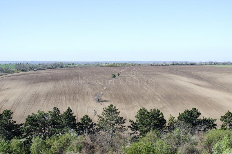 Campo agricolo arato fotografie stock libere da diritti