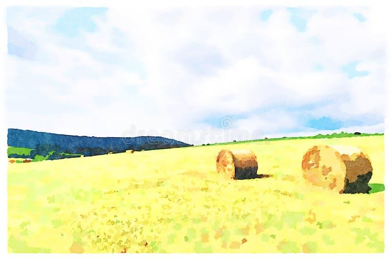 Campo agricolo idilliaco royalty illustrazione gratis